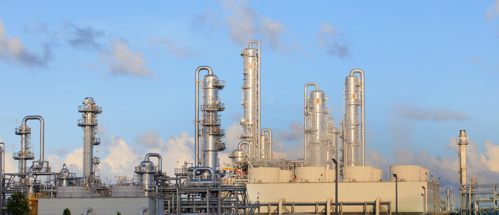 Refinery factory plant in heavy industry estate. Use for multipurpose royalty free stock image