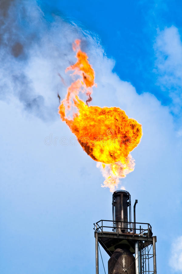 Refinery flare royalty free stock images