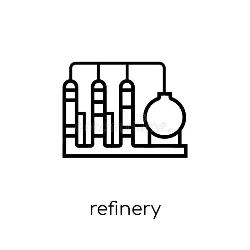Refinery icon from collection. vector illustration