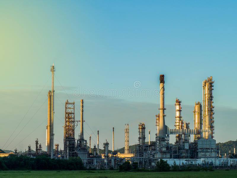 The refinery industry royalty free stock image