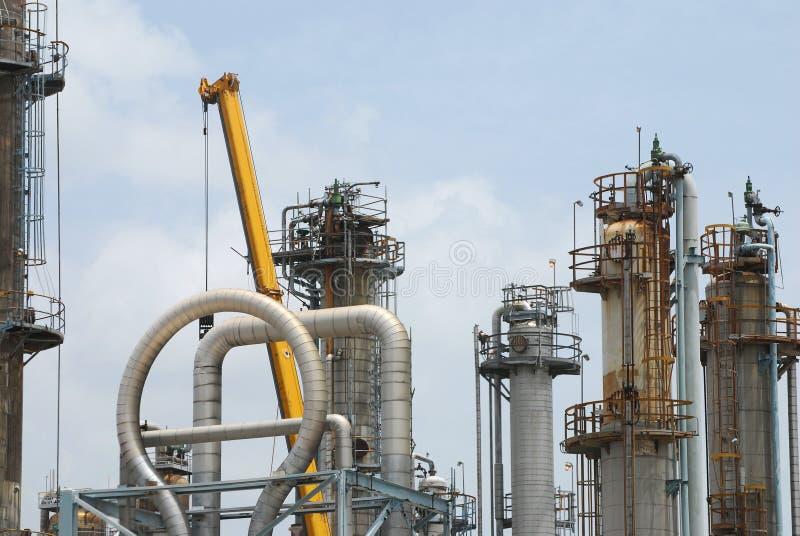 Refinery Maintenance royalty free stock photos