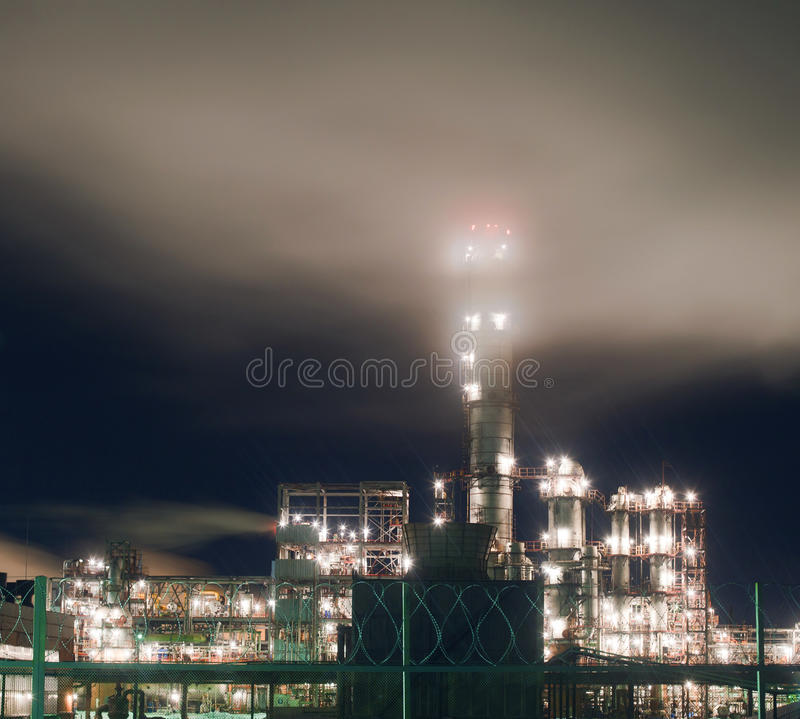 Download Refinery at night stock photo. Image of building, plant - 22600672