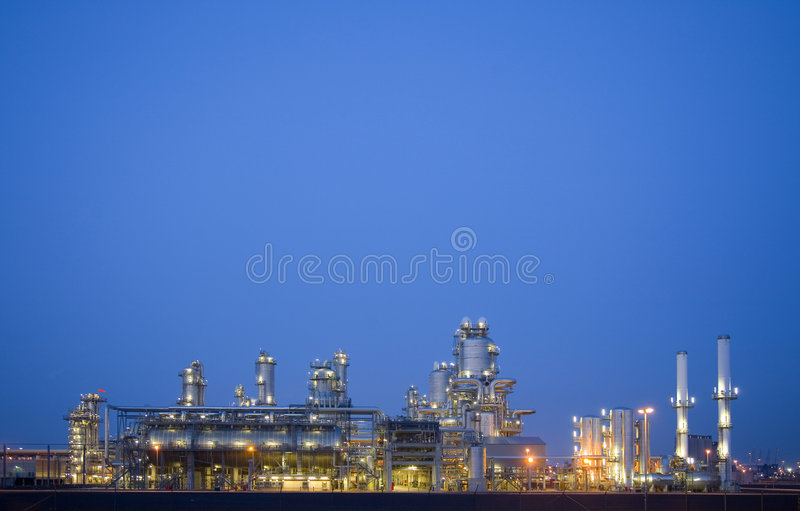 Refinery At Night 3 Royalty Free Stock Images