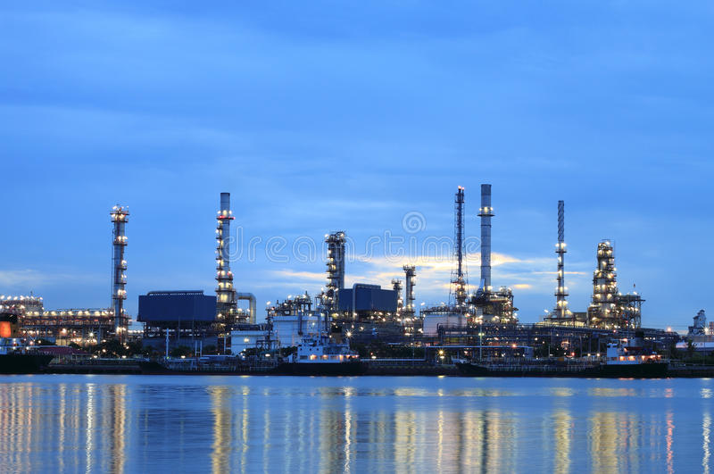 Download Refinery Plant Area At Twilight Stock Photo - Image: 25537842