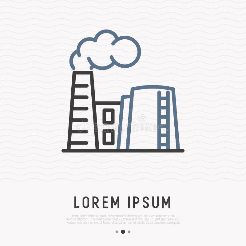 Refinery thin line icon stock illustration