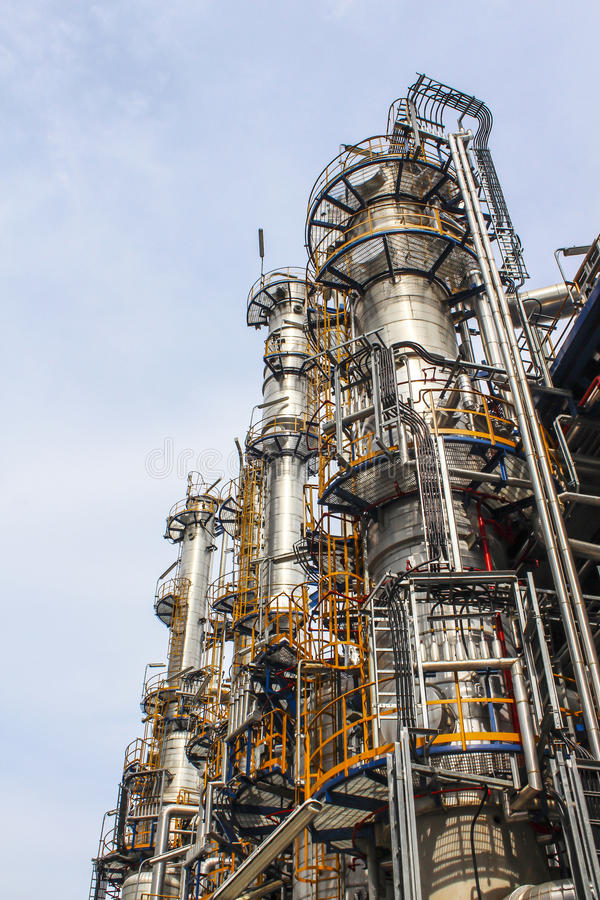 Download Refinery tower stock image. Image of production, structure - 26815231
