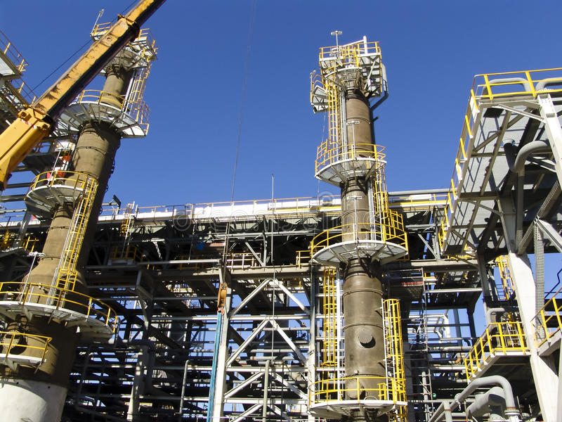 Refinery under construction royalty free stock photos