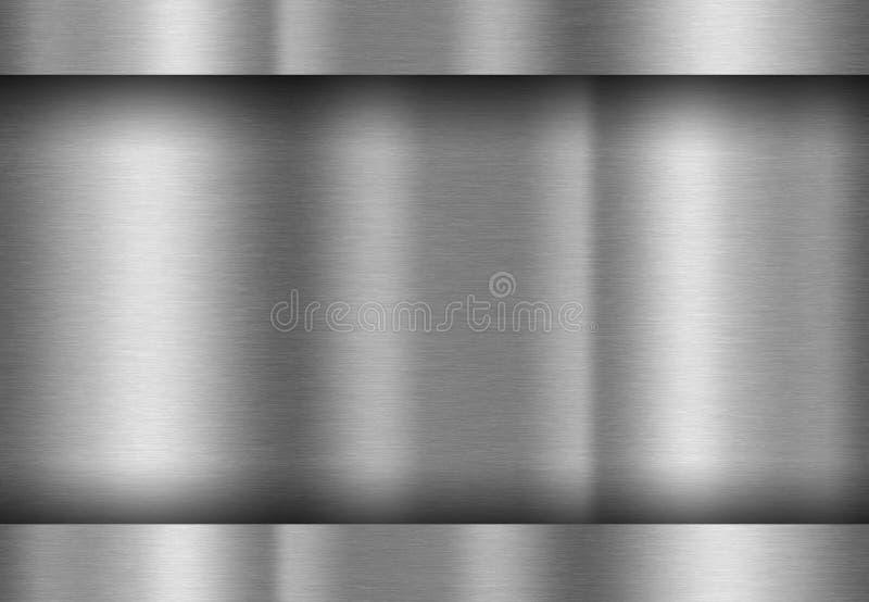 Reflétez le fond de texture en métal illustration stock