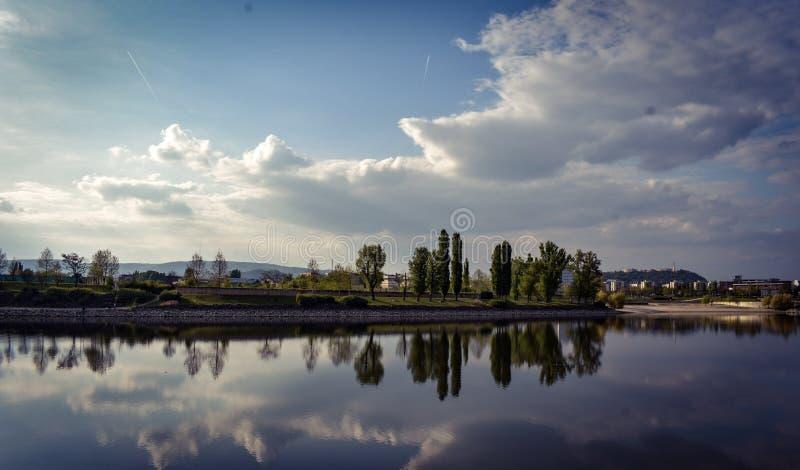 Reflecion海岛 库存照片