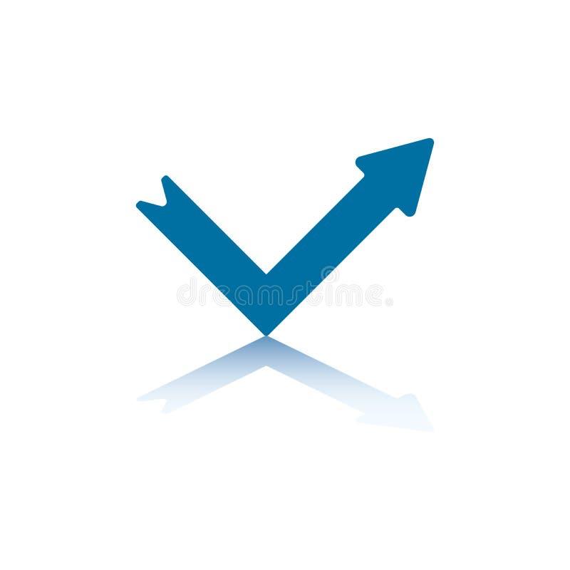 Download Reflect Arrow stock vector. Illustration of blue, arrowhead - 6275024