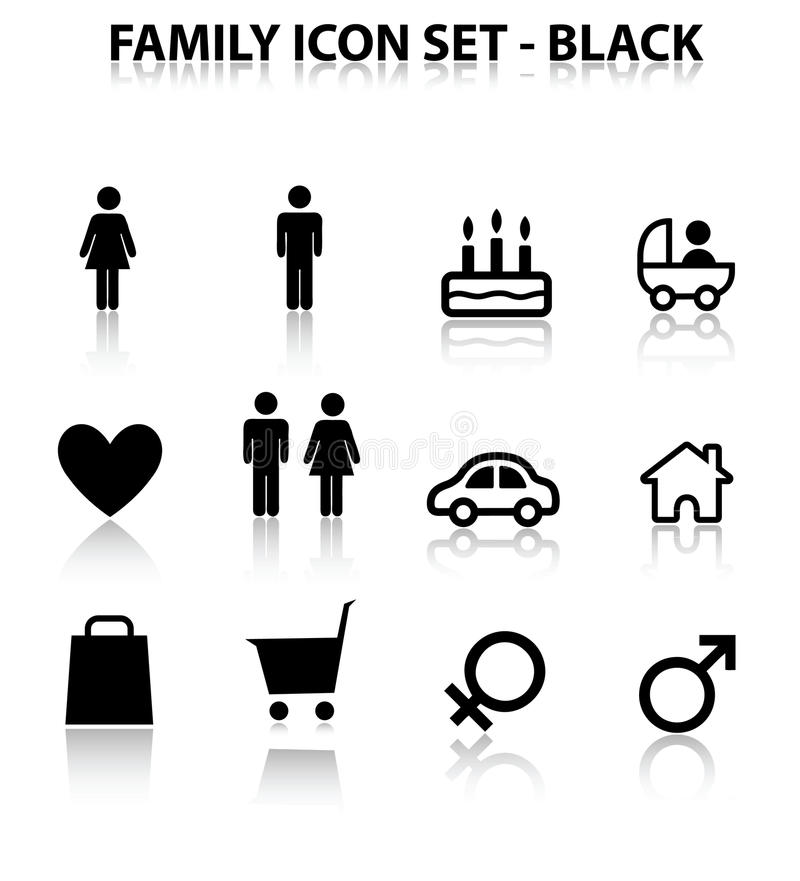 Download Reflect Family Icon Set Royalty Free Stock Photography - Image: 18341057
