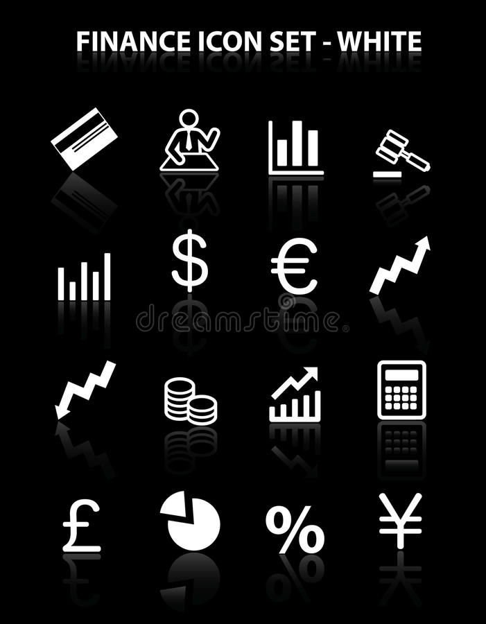 Download Reflect Finance Icon Set stock vector. Image of money - 18535623