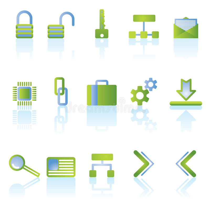 Download Reflect security icons stock vector. Image of message - 10457285