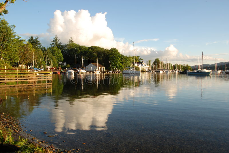 Reflected Clouds On Windermere Stock Images