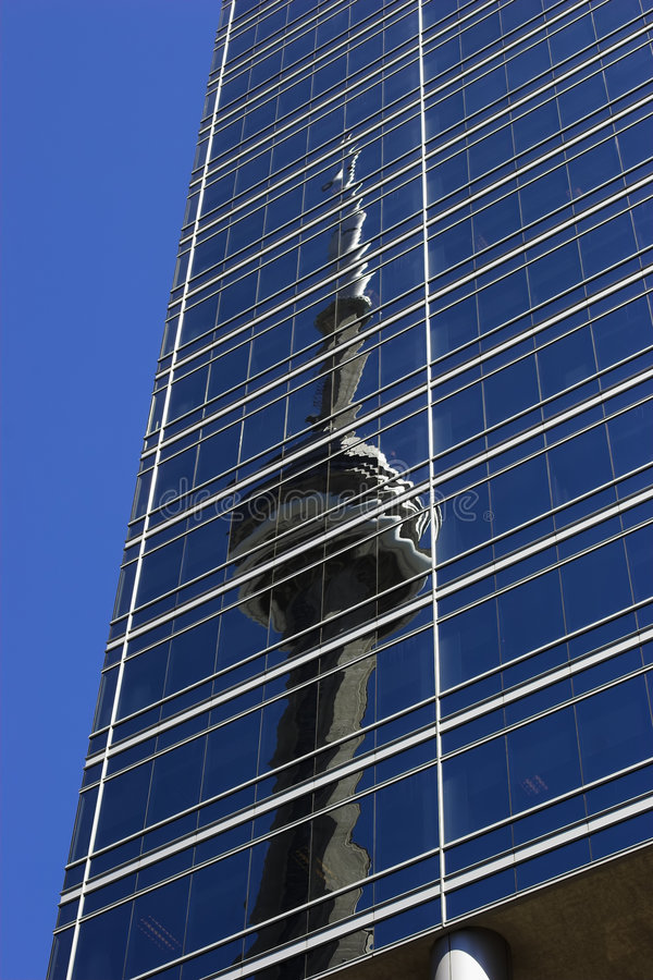 Reflected CN Tower Royalty Free Stock Image