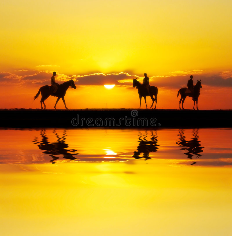 Download Reflected riders stock image. Image of landscape, lasso - 3572721
