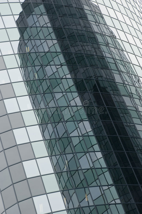Reflecting buildings royalty free stock photo