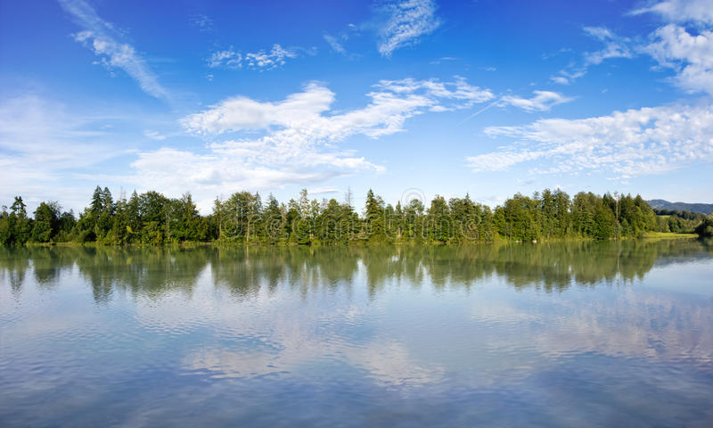 Download Reflecting lake stock image. Image of calm, widescreen - 21115315