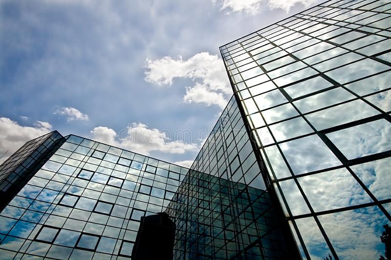 Reflecting office building royalty free stock photography