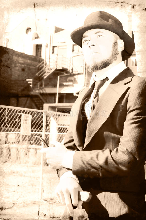 Download Reflecting On The Past stock photo. Image of beard, suit - 15039404