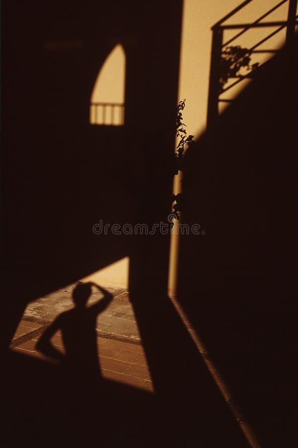 Reflecting on shadows stock photos