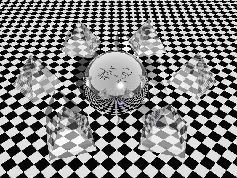 Reflection. vector illustration