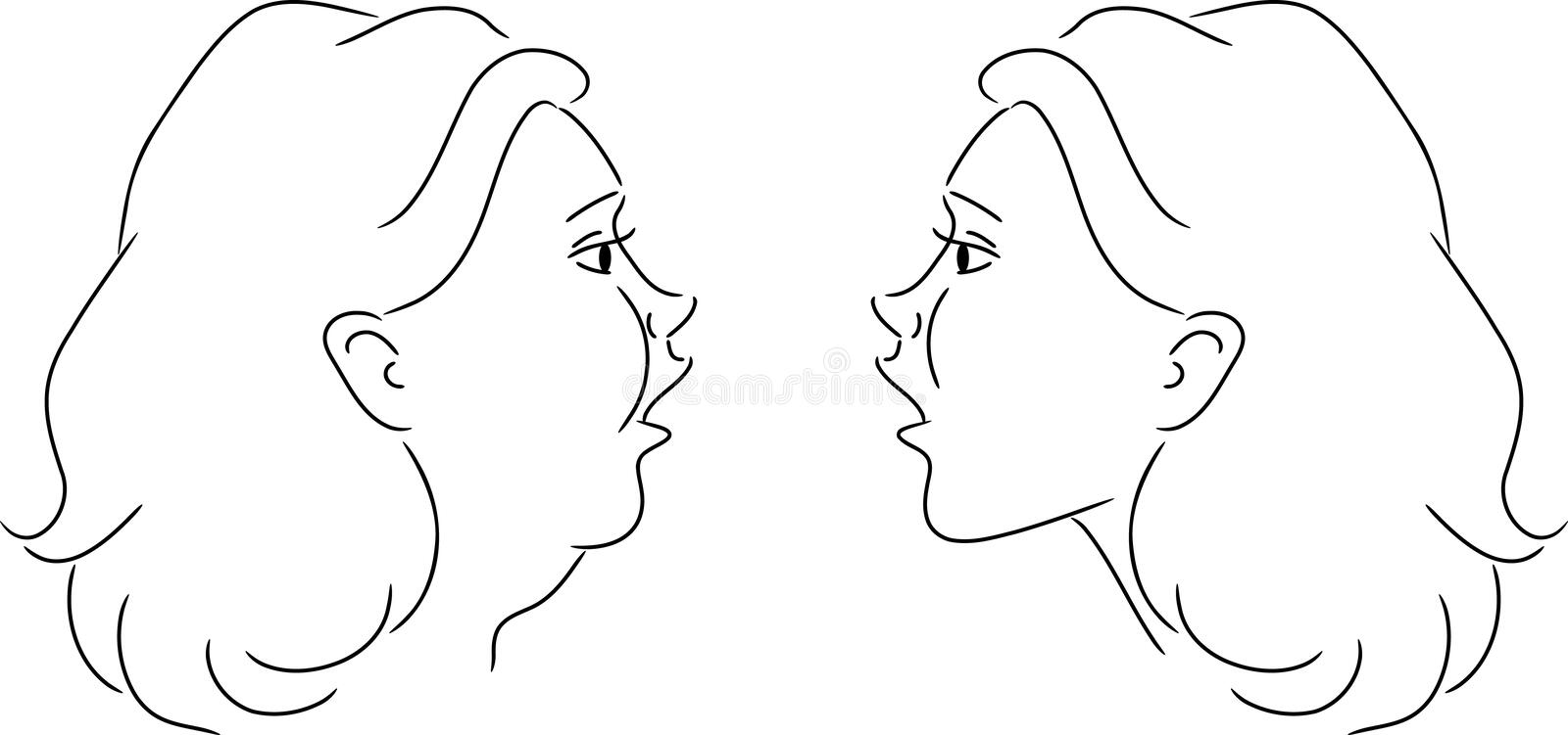 Download Reflection stock vector. Image of adult, face, reflection - 19035047
