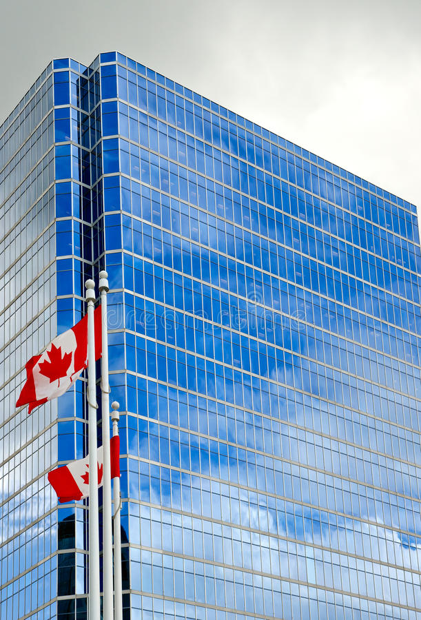 Canadian Flags royalty free stock images