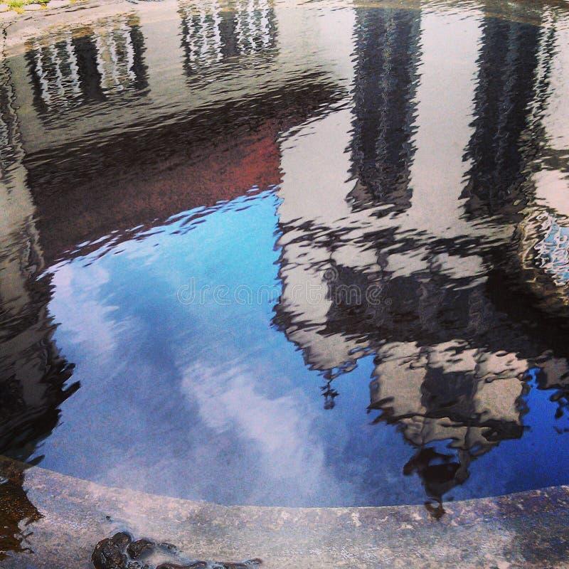 A reflection as a way of vision stock photos