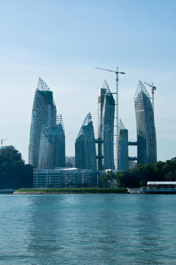 Free Reflection At Keppel Bay Tower Construction Stock Image - 19439051