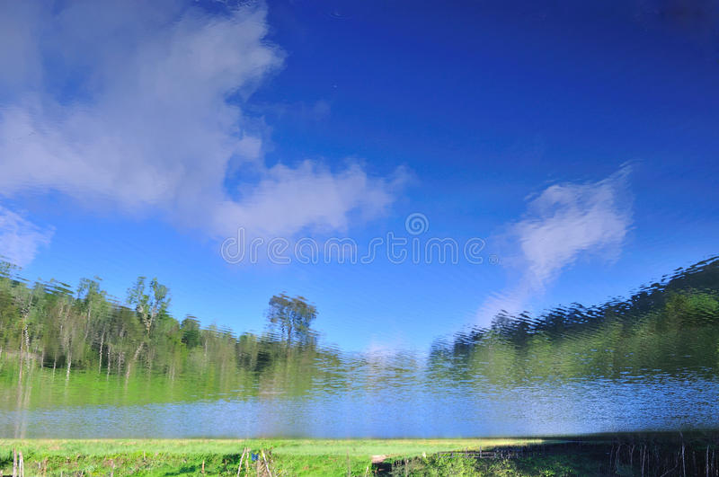 Reflection beautiful landscape view,. Fresh natural background royalty free stock photo