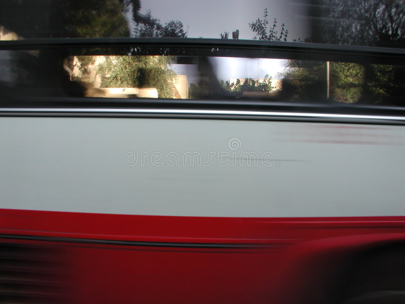 Reflection in bus stock image