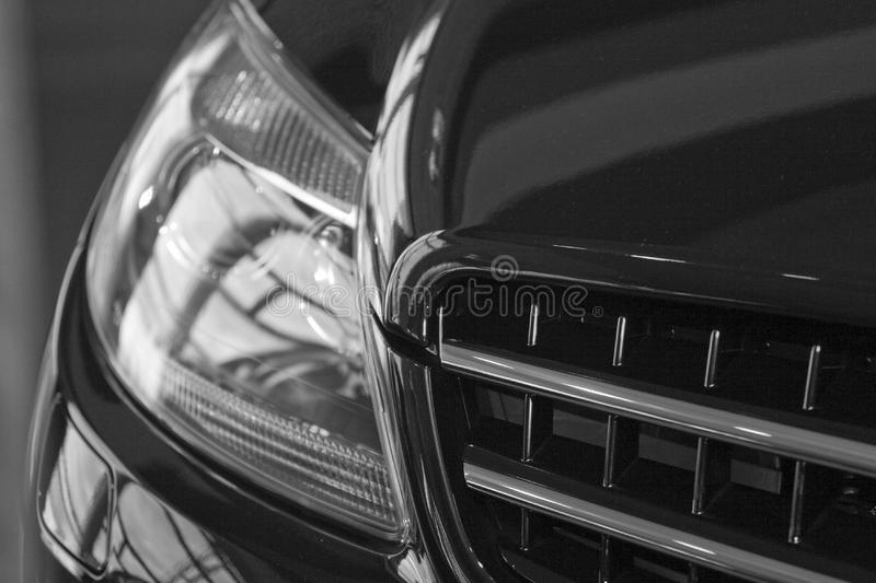 Reflection on car royalty free stock image