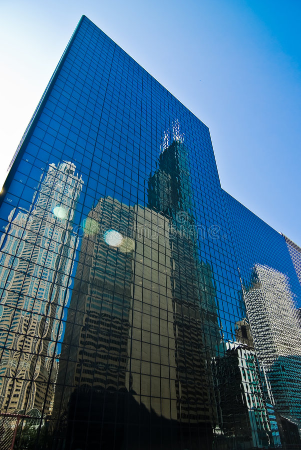 The Reflection of Chicago stock photo
