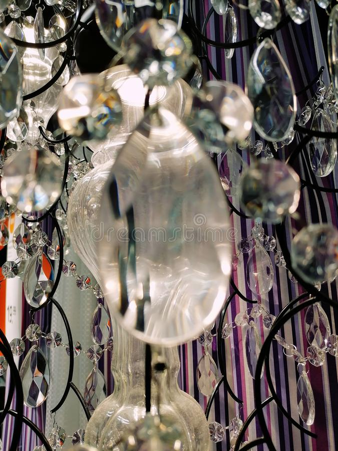 Reflection in chrystal. View, clear, light royalty free stock image