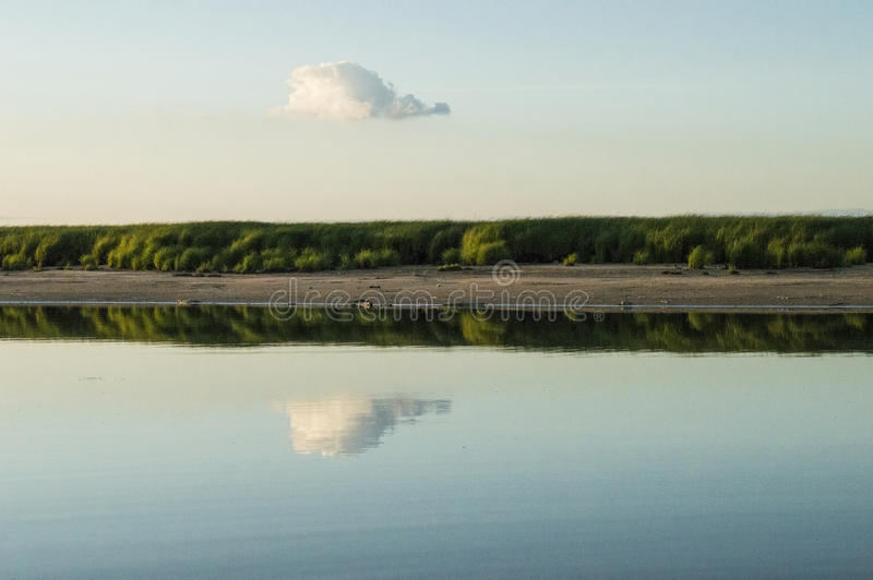 Reflection of clouds royalty free stock images