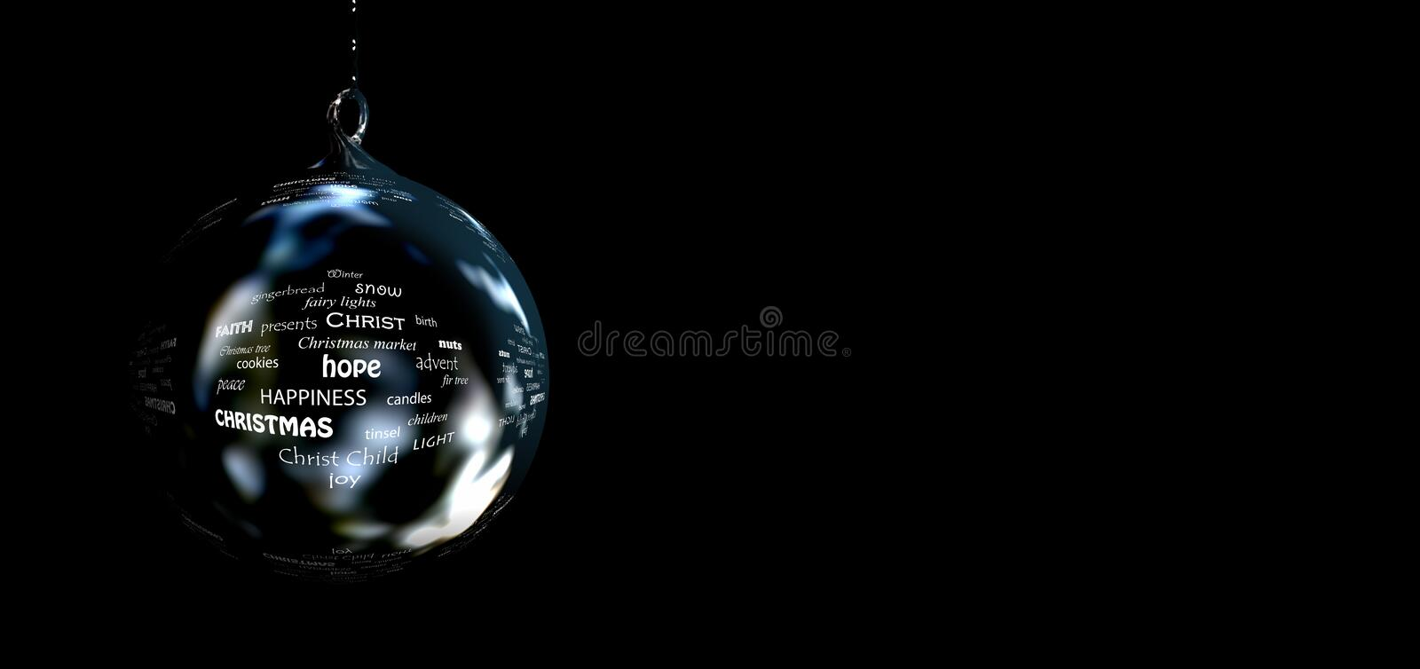 Reflection, Darkness, Sphere, Close Up stock image