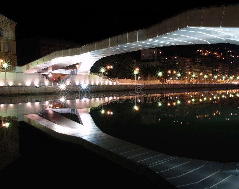 Download Reflection Of Deusto Universitys Bridge Stock Image - Image: 1964661