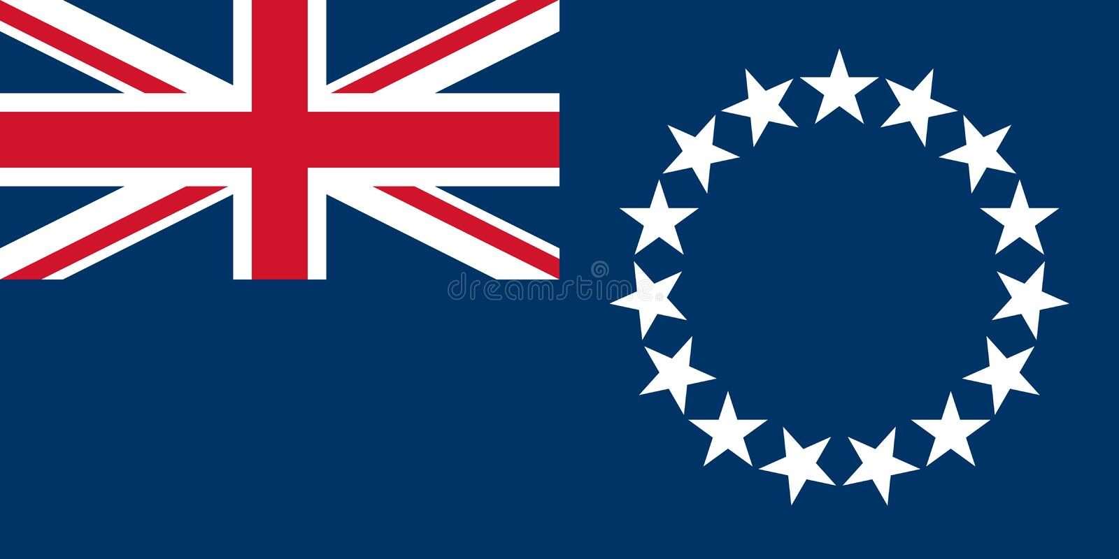 Flag of the Cook Islands royalty free illustration