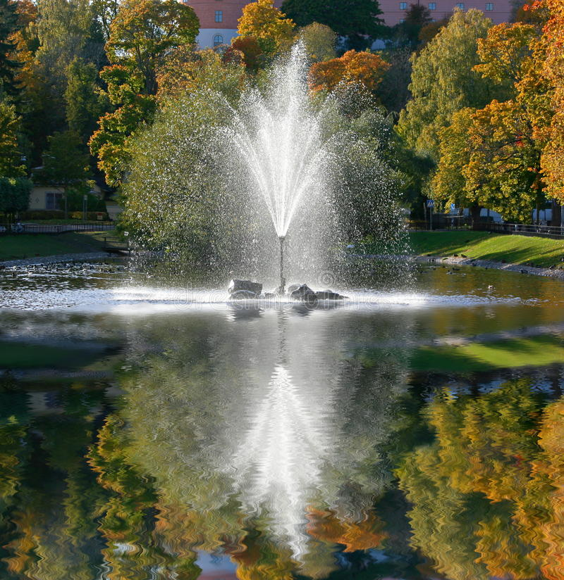 Reflection of a fountain royalty free stock photo