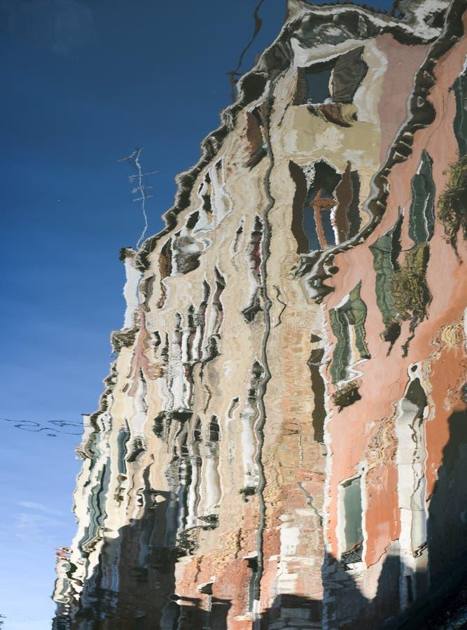 Reflection of houses in Rio Ca Di Dio