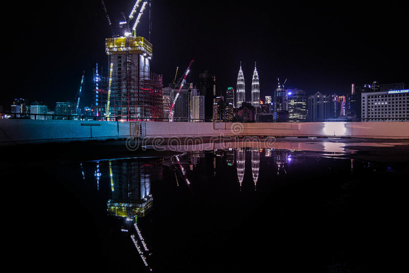 Reflection of KL stock photography
