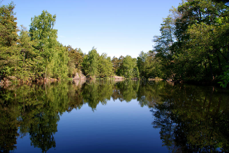 Reflection On A Lake royalty free stock images