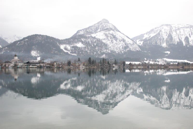 Reflection, Lake, Winter, Sky royalty free stock image