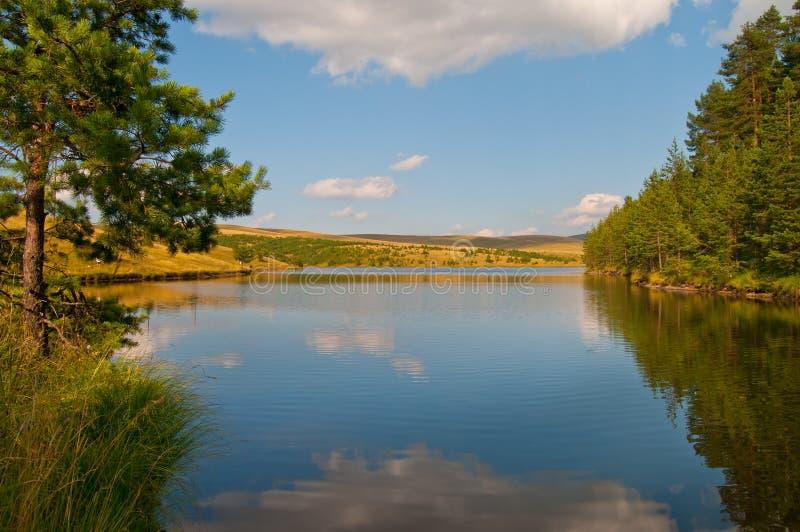 Reflection on Lake on Zlatibor Mountain stock photography