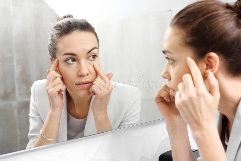 Reflection in the mirror royalty free stock image