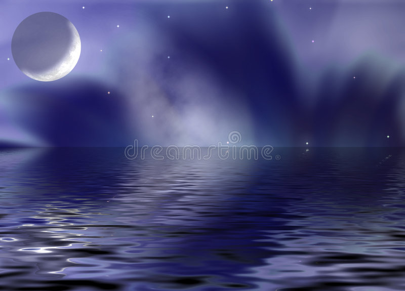 Download Reflection moon_fantastic stock illustration. Image of large - 1713034