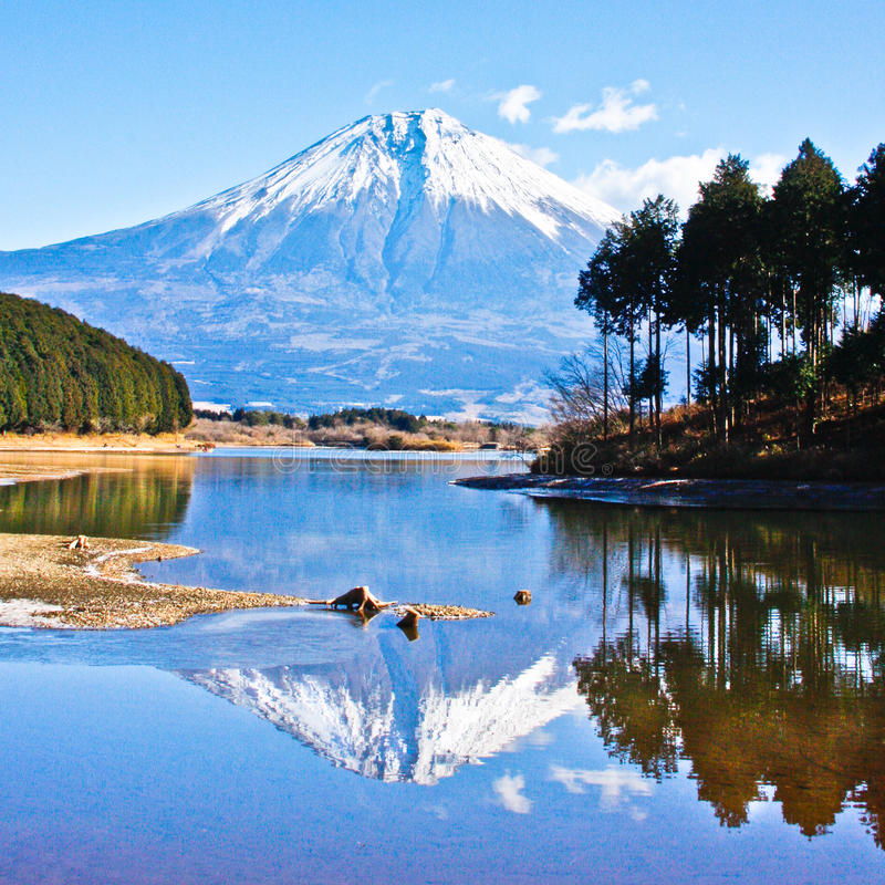 Download Reflection Mount Fuji-2 stock photo. Image of japan, snow - 19857848
