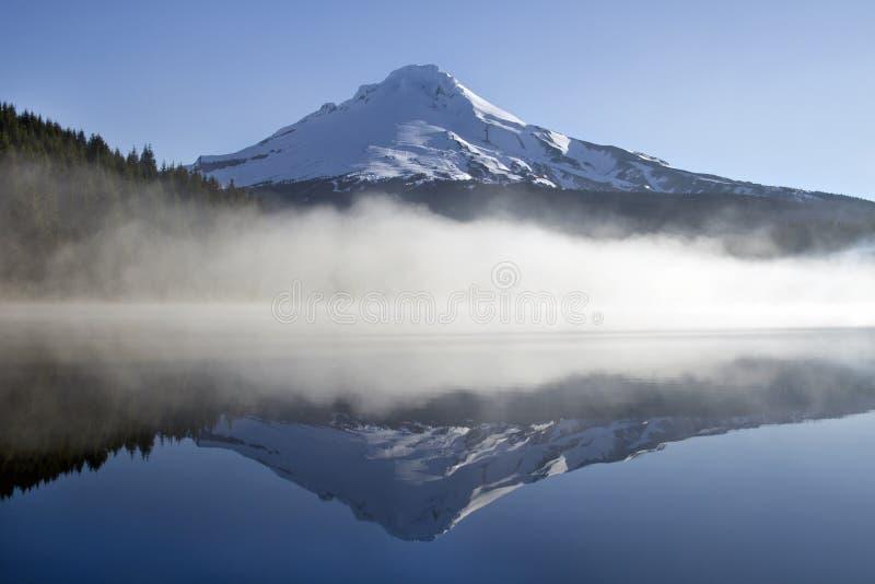 Reflection of Mount Hood stock image