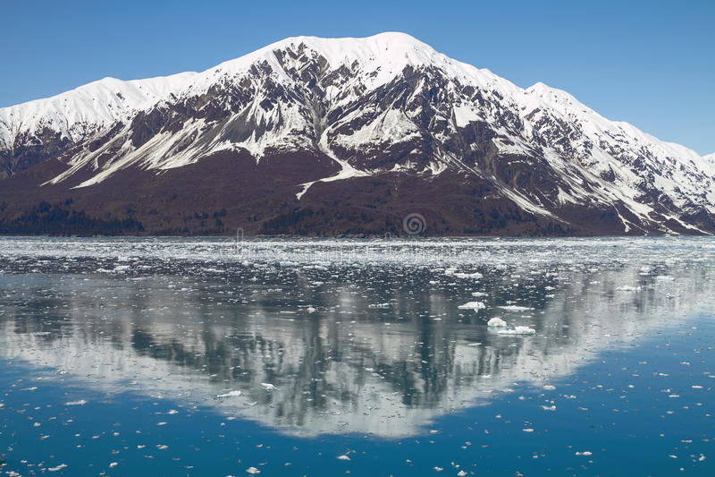 Reflection of Mountain Close to Hubbard Glacier in Alaska.  royalty free stock image